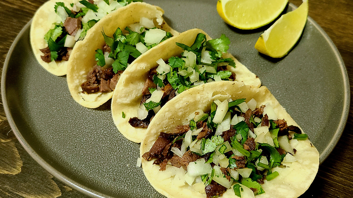 Duck offal street style tacos