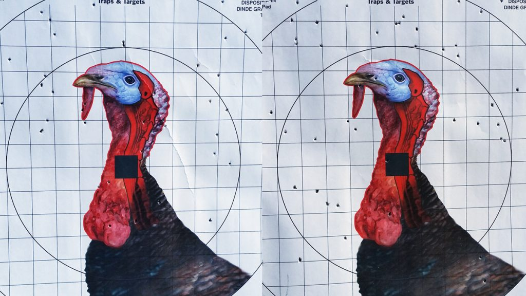 Turkey Pattern produced by a Carlson's BlackMaxx Extended Range Choke Tube