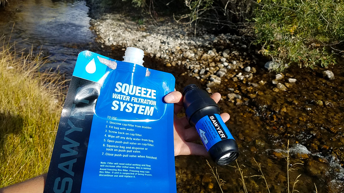 Sawyer Squeeze Filter and Squeeze Bag